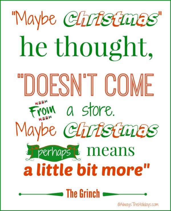 Christmas Quotes and Graphics - Always the Holidays