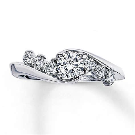 Kay   Leo Engagement Ring 3/4 ct tw Diamonds 14K White Gold