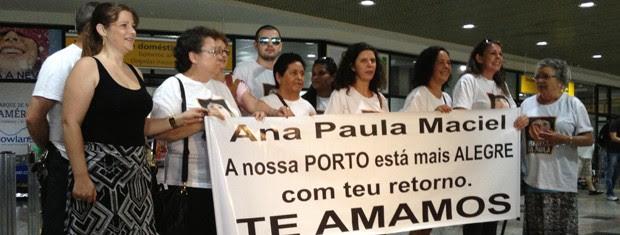 Família da ativista gaúcha Ana Paula Maciel (Foto: Rafaella Fraga/G1)