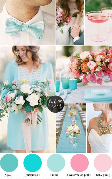 Pink and Turquoise Wedding Ideas Cheerful Duo   Turquoise