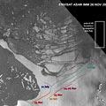 Rifts on the Wilkins Ice Shelf