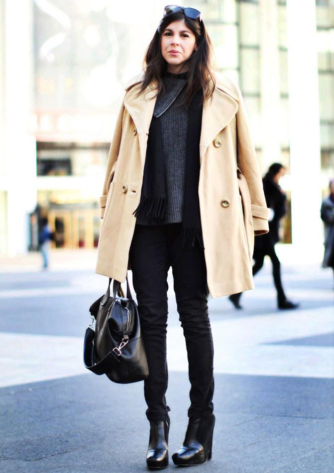 Camel coat NYFW