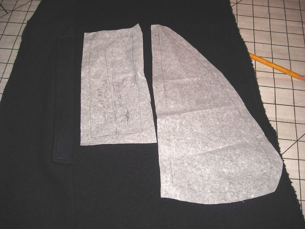 Original Pattern Pieces for Pocket and Welt