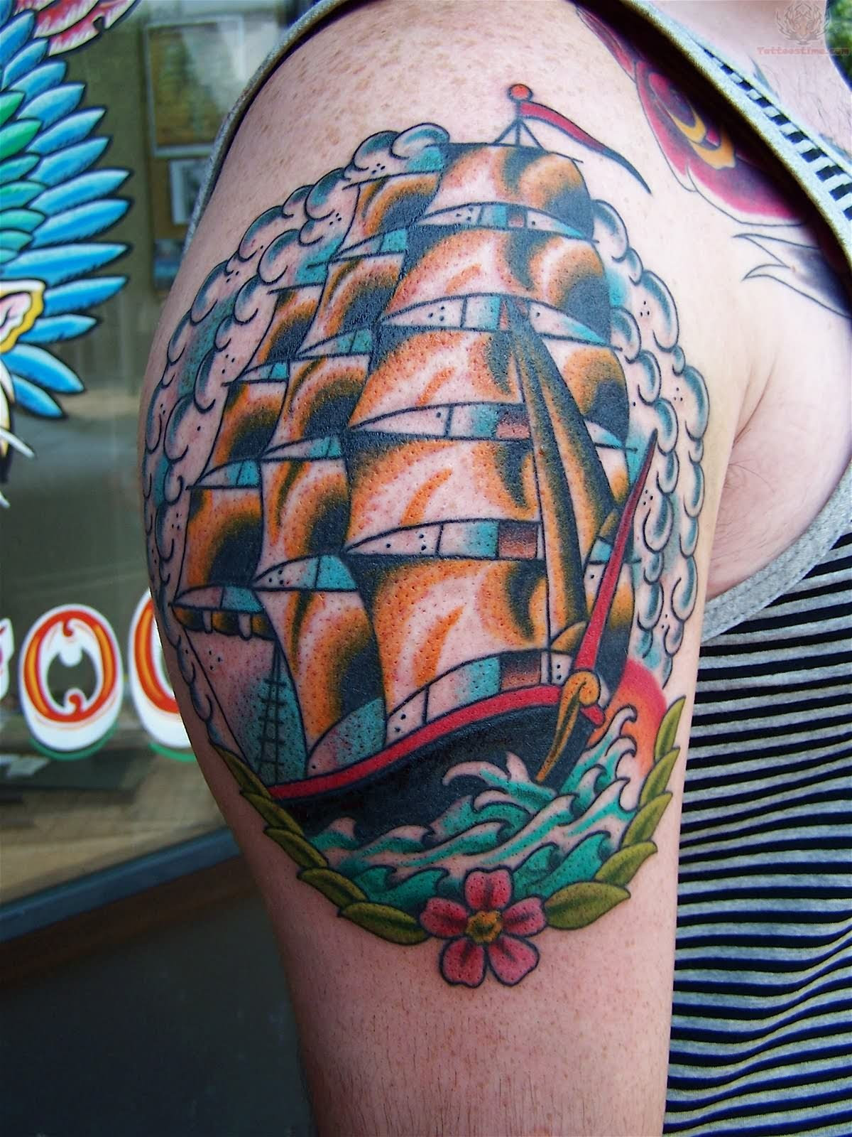 Traditional Ship Tattoos Designs, Ideas and Meaning ...