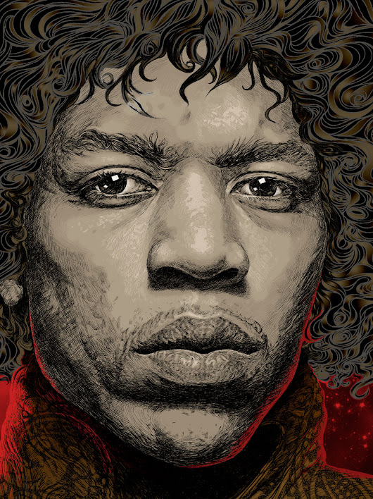 Jimi Hendrix Portrait – The End Of The Traffic Illustration