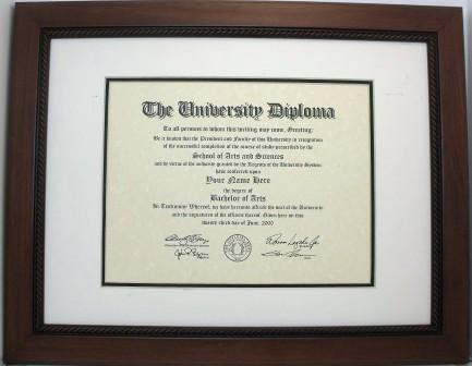 Graduation Diploma College Or University 85x11 Certificate