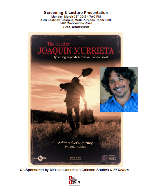 'The Head of Joaquin Murrieta' director to attend ACC screening | ACC Newsroom