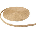 Burlap Ribbon - 25-Yard Natural Jute Ribbon Roll, Burlap Spool with Twine Twisted Hemp Rope Strings for Arts and Crafts, DIY Wedding Decorations, 0.5