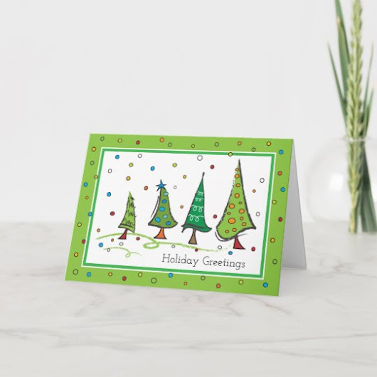 Holiday Seasonal Trees Greeting Card