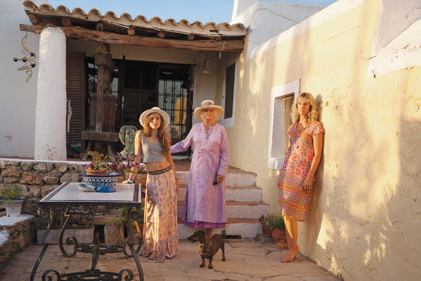 Hjordis Fogelberg, a local art director who grew up on the island and is the author of the guidebook ''My Ibiza,'' with her daughter, Finn (left) and mother, Bel (center).