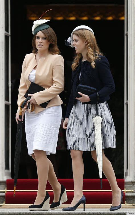 Princesses Beatrice, Eugenie Attend First Buckingham
