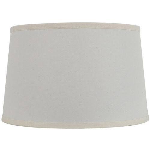 18 Inch Mod Drum Lamp Shade Off White Beige