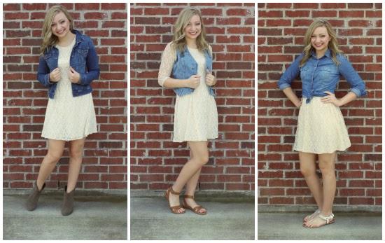 Goodwillista Many Days Many Ways Link Up Lace Dress 15 Ways