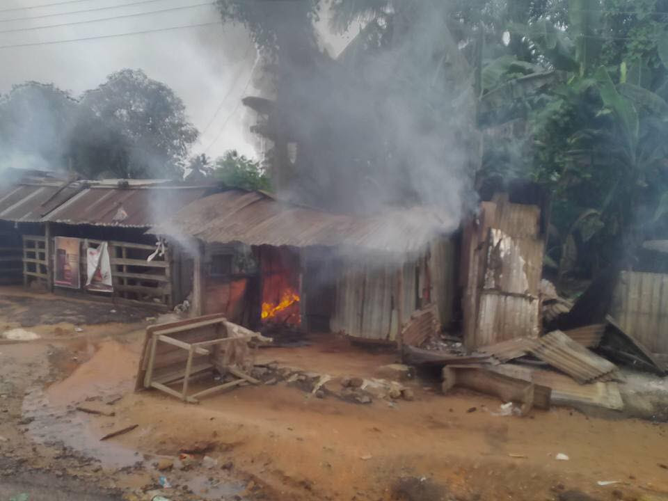 Soldiers Attack Community In Akwa Ibom After Death Of Their Colleague (Photos)