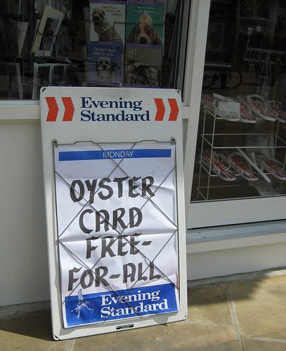Oyster card free-for-all - Evening Standard bill board