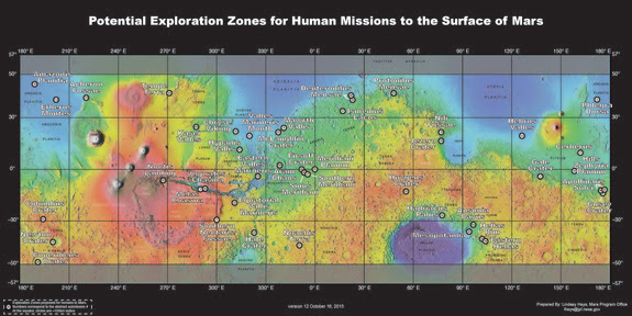 Last year, scientists identified nearly 50 prospective human landing zones on Mars — locations that are safe, scientifically promising and resource-rich.