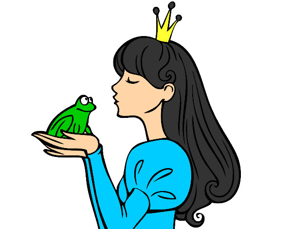 Dibujo De La Princesa Y El Sapo Pintado Por Ginnys En Dibujosnet El