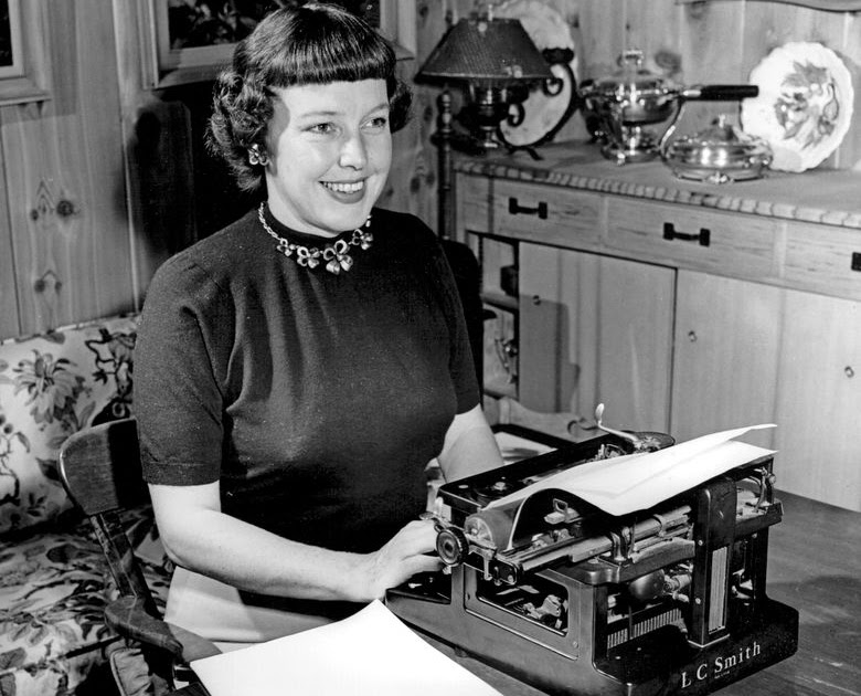 Bildergebnis für Betty MacDonald and her typewriter