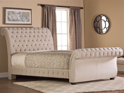 bombay fabric upholstered bed  buckwheat  hillsdale