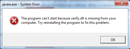 [SOLVED] Missing verify.dll