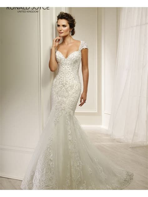 Ronald Joyce 69215 HELAINE Lace Beaded Fit And Flare
