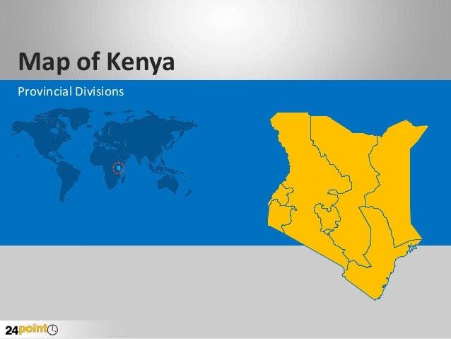 Kenya Map - Editable PowerPoint Slides