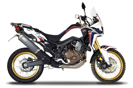 Africa Twin 2016 com escape Spark Exhaust Technology