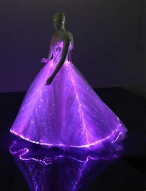 led fiber optic light  elegant princess cinderella dress