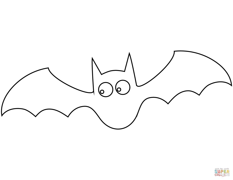 bat 2 coloring page