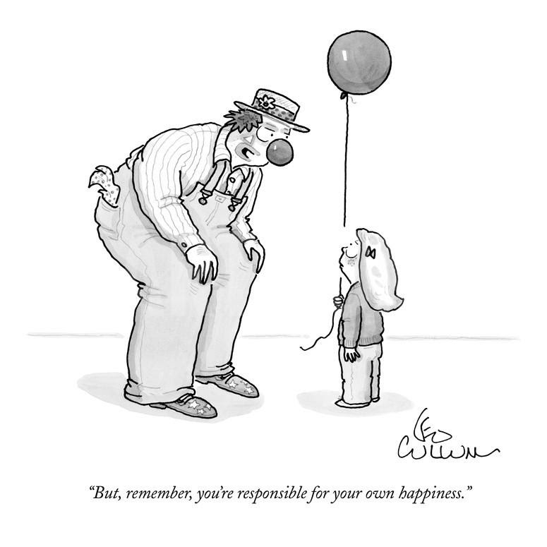 Image result for happiness cartoons new yorker