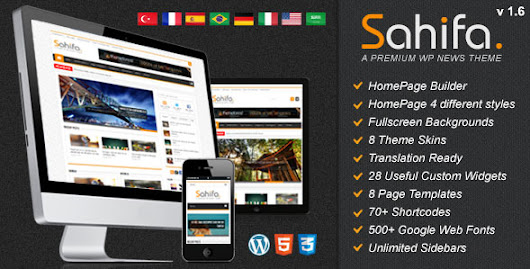 Sahifa - Themeforest Responsive WordPress News,Magazine,Blog