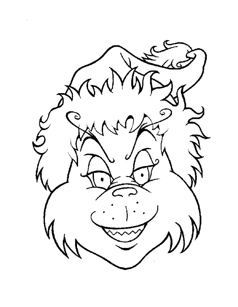 The Grinch Face Coloring Page | New Calendar Template Site