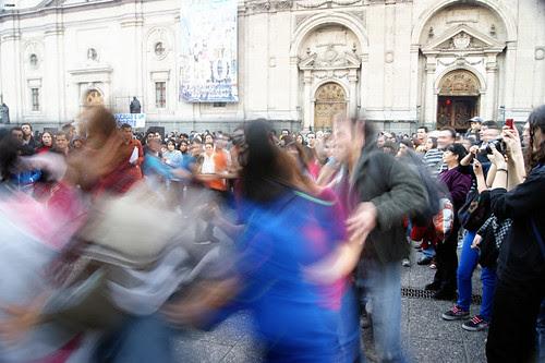 Protesta por la educación pública. by Manuel Venegas