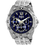 Men's Multi-Eye Blue Dial Watch - Silver, Blue/Silver