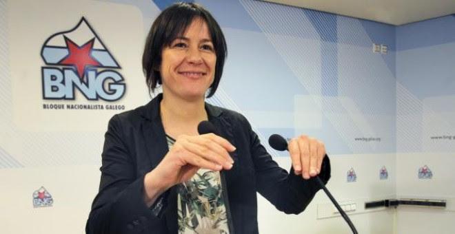 Ana Pontón, candidata del Bloque Nacionalista Galego (BNG), en un mitín. EFE/Archivo