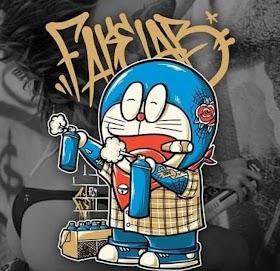 Graffiti Doraemon Keren