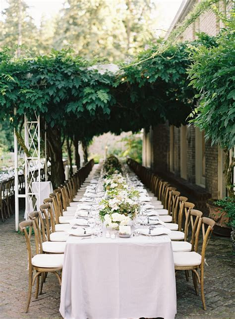 Elegant Garden Wedding Reception   Real Weddings   Oncewed.com