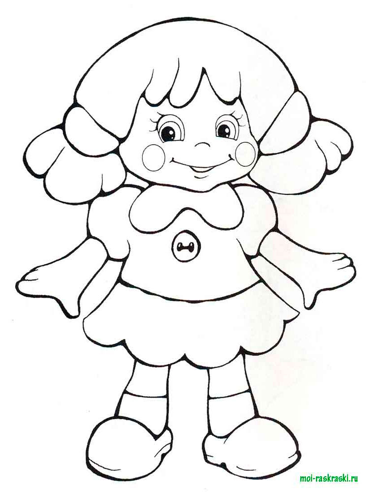 doll coloring pages 23