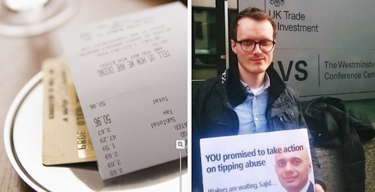 Waiter Sacked From Top Restaurant After Tipping Leaflet Found in Locker