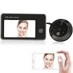 """720p wifi visual intercom door phone 4.3"""" monitor wireless digital peephole door viewer 2-way audio video door eye doorbell hd 1.0mp ir camera pi"""