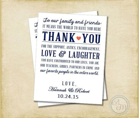 sample wedding   notes sample templates