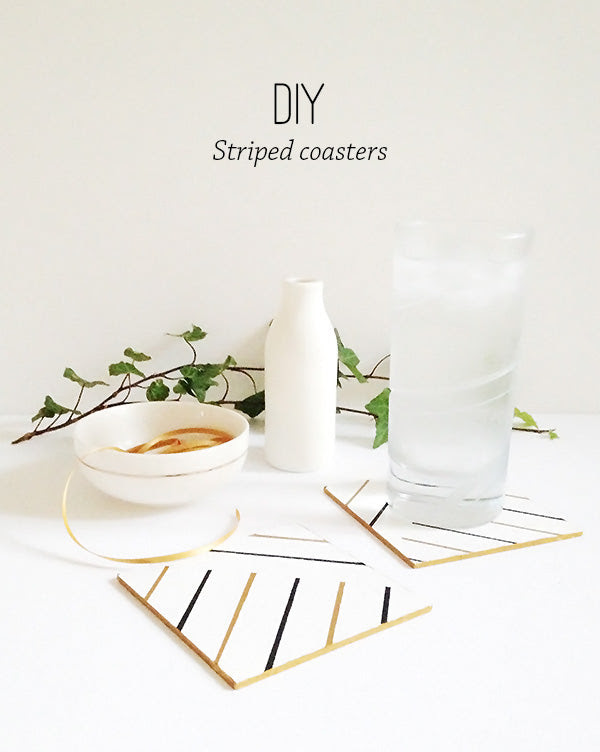 diy striped coasters
