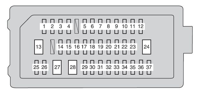 Toyota Camry From 2012 Fuse Box Diagram Auto Genius