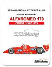 Kit 1/20 Studio27 - Alfa Romeo 179 Avila - Nº 36 - Vittorio Brambia - Gran Premio de Canada y NorteAmerica 1979 - kit Multimedia