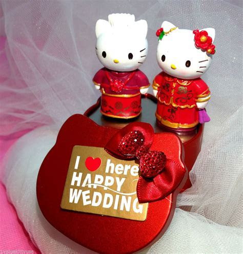 Details about Daniel & Hello KITTY Wedding Cake Topper