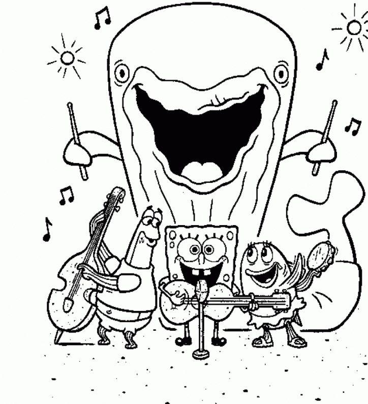 5600 Spongebob Squarepants Coloring Pages Online Download Free Images