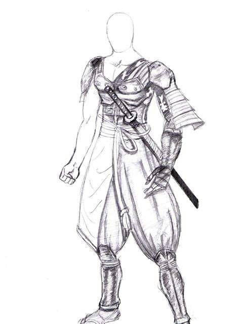 draw anime warrior