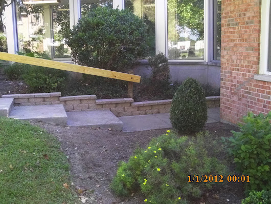 Hardscaping Job 2 - Windsor Block Retaining Wall, Steps