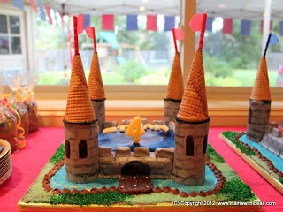 A mama with ideas...: Medieval Knights & Princesses Party Theme Ideas... upside down ice  cream cones.... :)