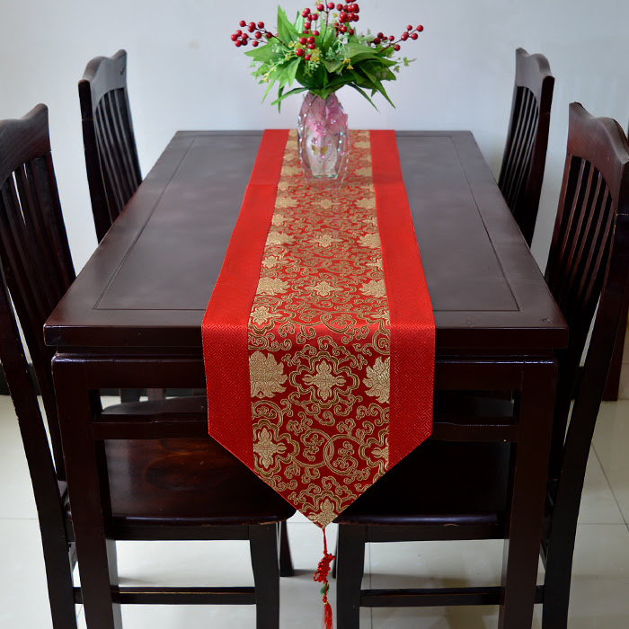 Extra Long Classic Chinese knot Christmas Table Runners ...